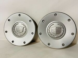(2) 2003-2004 CADILLAC CTS SILVER CENTER CAPS WHEEL COVERS OEM P/N 9594176