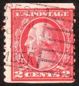 1916 US, 2c, George Washington, Used, Sc 492