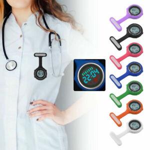 UK Digital Multi Function Silicone Nurse/Brooch/Tunic/Fob/Pocket/Carabiner Watch
