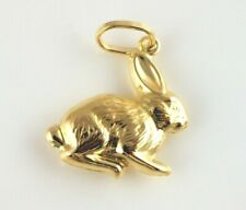 New 9ct Yellow Gold Rabbit Charm / Pendant