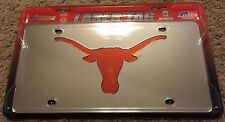 Rico UT Texas Longhorns Silver/Orange Laser Tag License Plate