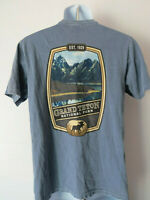 Periwinkle BLUE GRAND TETON NATIONAL PARK T - SHIRT TEE mens cornflower parks