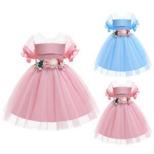 Girl Princess Bridesmaid Flower Kid Children Party Wedding Tulle Tutu Dresses