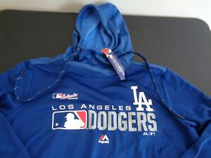 LOS ANGELES DODGERS Womens MAJESTIC Authentic Collection L Hoodie NEW Sweatshirt