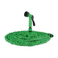 15m Flexibler Gartenschlauch Wasserschlauch dehnbarer Bewässerung Schlauch Blau
