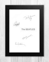 The Beatles White Album A4 signed photograph poster. Choice of frame.