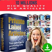 2021⭐10 MILLION Private Label Right PLR Articles- All NICHES -Seo Optimized