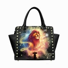 Lion King Simba Mufasa Stars Premium PU Leather Shoulder / Hand Bag Disney