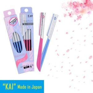 "JAPAN """"KAI'' Facial Eyebrow Razor Trimmer Shaper Shaver BladeHair Remover"