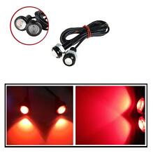 2pcs 10W LED RED Eagle Eye Light Car DRL Fog Daytime tail Backup Rear Signal NEW
