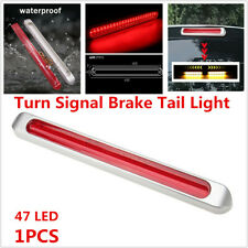 47 LED Car Trailer Turn Signal Brake Tail Lamp Flowing Water Red+Yellow RV Light