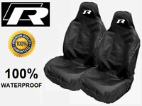 VOLKSWAGEN GOLF R-LINE CAR SEAT COVERS x2 | PROTECTORS | WATERPROOF | VW R