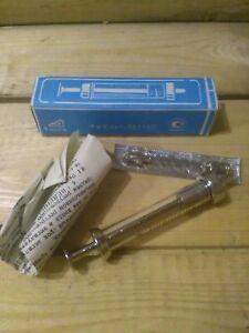 Vintage USSR Glass Syringe 2 ml.Reusable Medical Glass Syringe in Geniune Box.