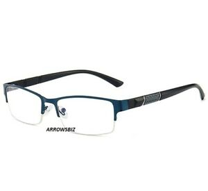 Near Sighted Metal Front Half Frame Short Distance Myopia Glasses -0.5 to -6.0