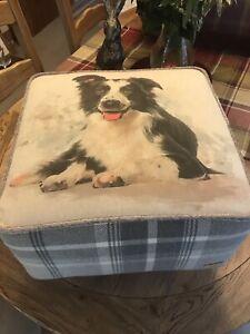 Dog Print Footstools