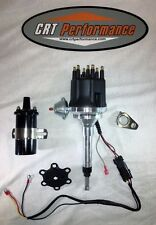 Small Cap CHEVY INLINE 6 Cylinder 235 Black HEI Distributor + Black 45K V Coil