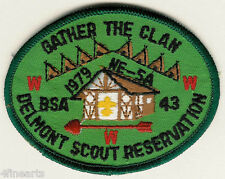 BOY SCOUTS Patch -  1979 Gather the Clan - Delmont Scout Reservation WWW Arrow