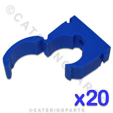CL116 TALON 20 x HIGH QUALITY 15mm SINGLE HINGED PIPE CLIPS BLUE COLD WATER TUBE