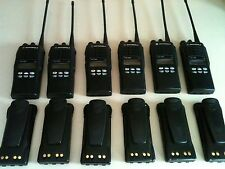 (6) MOTOROLA HT1250 UHF RADIO 450-512MHz 128CH AAH25SDF9AA5AN NARROW BAND XTS CP