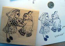 P30 Wedding owls rubber stamp WM