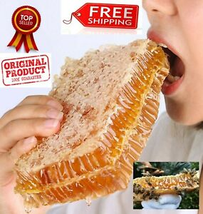 250g PURE HONEYCOMB CHEWING ON HONEY FARM MAKES REAL HONEYCOMB HONEY NATURAL BEE