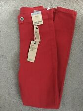 MARKS & SPENCER WOMENS RED SUPER SKINNY JEANS, Size 8 Long, Bnwt