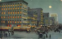 Postcard Washington Street at night in Indianapolis, Indiana~124977