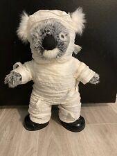 "Build a Bear Workshop Koala 15"" Stuffed Toy 2 Toned Grey Mummy Halloween Costume"