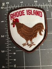 Rhode Island Red Patch Shield Crest RI R.I. Rooster Chicken Hen State Bird Breed