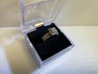 (N4747) 14K White Gold Wedding Set w/ Diamonds