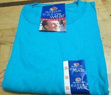 Men's T-Shirts Fruit of The Loom 3XL Turquoise Color 100 % Cotton Heavy Cotton