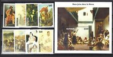 GUYANA MNH 1998 ART PAINTINGS PLUS SOUVENIR SHEET