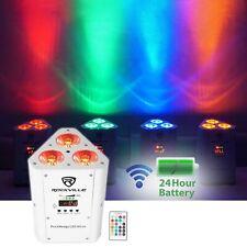 Rockville RockWedge LED RGBWA+UV Rechargeable Wireless Wash DJ Up-Light in White
