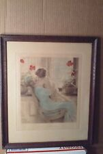 BESSIE GUTMANN ORIGINAL PRINT - I LOVE TO BE LOVED BY A BABY - MOTHER AND BABY