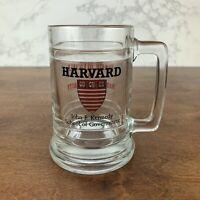 Vintage Ceramic Glass Beer Mug Cup HARVARD  John F. Kennedy School Of Government