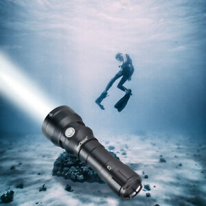 2000 Lumens Scuba Diving Flashlight 150 Meters Underwater Rechargeable LED Torch