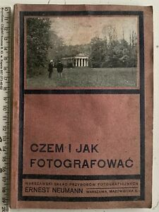 RARE! 1913 Polish Antique Cameras Store Catalog WARSAW Lenses Photography Russia