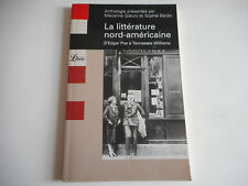 LA LITTERATURE NORD-AMERICAINE D'EDGAR POE à Tennessee Williams - LIBRIO