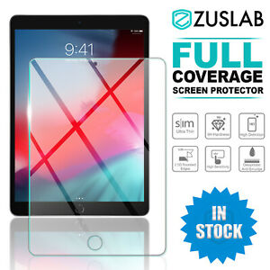 For Apple iPad 8th Gen Zuslab Full Coverage Tempered Glass Screen Protector
