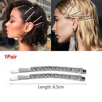 Jewelry Shiny Rhinestones Hairpins  Hair Clips Crystal Hairgrip Metal Barrette