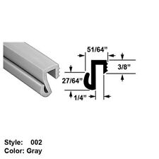 """High Temp. Push-On Seal w/ Wiper Style 2 Ht. 27/64"""" x Wd. 51/64"""" - Gray - 10 ft"""
