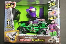 1 New Bright R/C Monster Jam Grave Digger 1:24 Scale Carnage Creature 2.4 Ghz