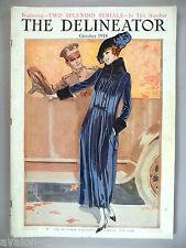 """The Delineator Magazine - October, 1918 ~~ giant 11"""" x 16"""" fashion magazine"""