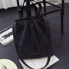 New Women's Canvas Black Handbag Shoulder Messenger Bag Satchel Tote Purse Bags