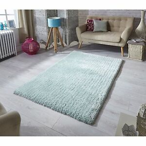 Luxury Super Soft Rug Mint Pastel Softness Shaggy Rugs ALL SIZES