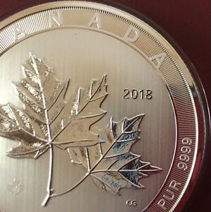 CANADA 2018 10 oz Silver Maple Leaf Magnificent $50  Flawless Coin
