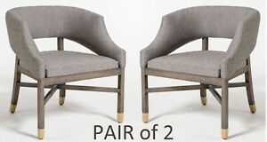 Pair of 2 Wyatt Designer Kitchen Captain Chairs - Solid Hardwood Structure