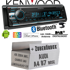 Kenwood Radio für Audi A4 B7 CanBus LFB Chorus Concert BOSE DAB+ BT 2x USB Set