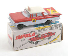 Maxwell Toys (India) No.560 Maxwell Mini Fire Service Impala 1970s * MIB *