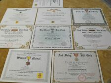Vietnam Medal Certificates; Cross of Gallantry Technical Service Campaign & More